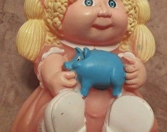 1983 Cabbage Patch Kids Vinyl Bank - Blonde Hair Girl