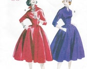50s Womens Retro Rockabilly Dress Butterick Sewing Pattern B5556 Size 16 18 20 22 Bust 38 40 42 44 UnCut Re-Issued 1950s Patterns