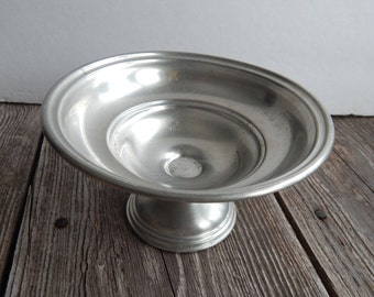 Round Footed Pewter Candy Dish by Preisner