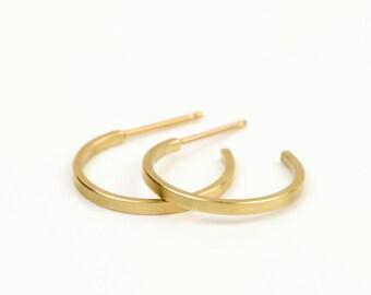 Gold hoop earrings, gold minimalist earrings, 14k gold hoop earrings,  14k gold hoops, solid gold hoop earrings