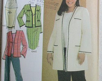 Simplicity Women's Top /  Pants /  Skirt /  Jacket Sewing Pattern 4971 ~ Sz. 18W - 20W - 22W - 24W ~ Uncut ~ Fall Fashion ~ Estate Sale Find