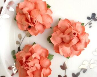Peach Paper Flowers, DIY Wedding, diy Wedding Favors, Table Numbers, Table Numbers Wedding, Table Numbers for Wedding, Peach Wedding Decor