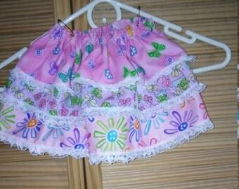 Toddler ruffled skirt.