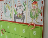 READY TO SHIP  /Personalized Christmas Advent Calendar /  Christmas Countdown Calendar with Pockets in Joy and Wonder Co