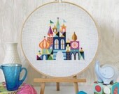 Reserved for Cara - Pretty Little City : Satsuma Street Jody Rice counted cross stitch patterns Mary Blair embroidery wall art