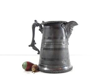 Antique Silver Pitcher / Victorian Decor