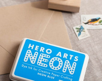 Neon Blue Ink Pad - hero arts NEON ink pad bright blue (AF231)