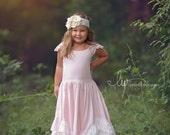 Flower girl dress, baby girl dress,  flower girl dress blush, flower girl dresses, rustic flower girl dress, country flower girl dress, posh