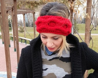 knitted workout headband ear warmer valentines day christmas gift for her bridal wedding