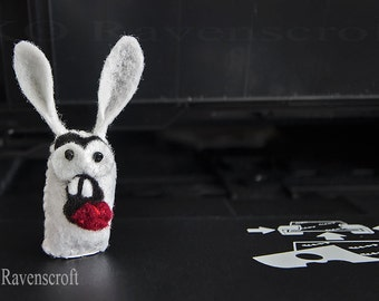Wacky Ghost Rabbit silly felt ghost - made to order