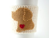 Coffee cozy, cup sleeve, black lab, chocolate lab, yellow lab, I love my lab, gift for her, gift for him, labrador retriever, coffee sleeve