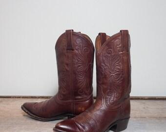 7.5 M | Women's Dan Post Short Brown Western Cowboy Boots