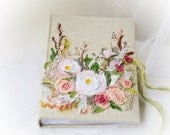 Rustic Wedding photo album, Wedding photo album,  300 photos, Embroidered Photo album, Bridal shower book, Anniversary gift, memory album