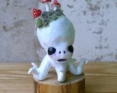 Polymer Clay Octopus Figurine - The Forest Shroomtopus - Clay Octopus Sculpture - Sea Creature Figurine - Art Doll - Octopus Home Decor
