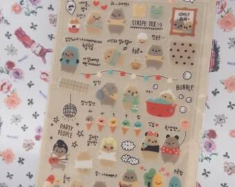 Suatelier lovely bear Sticker (1 sheet)