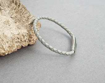 Leather Bracelet for Men, Boyfriend Gift, Braided Bracelet, Men's Leather Jewelry, Jewelry for Him