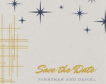 Stars and Lines - Save the Date