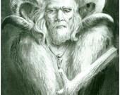 Druid, art print, fantasy art