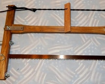 Take-down Frame Buck Bow Saw Hand-made in USA, includes Bahco blade & waxed canvas bag, great for camping or hiking
