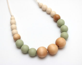 Silicone Teething Necklace | Chewelry | Breastfeeding Necklace for Mom | Baby Shower Gift | Teething Necklace | Baby Chew Necklace | ISLA