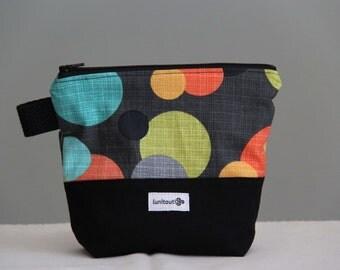 Reusable sandwich bag, reusable snack bag, ecofriendly, zippered, ProCare lined - Big Bright Dot