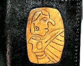 Native American Gift - American Indian Wallet - Birdman Tablet - Cahokia Mounds - Indian Wallet, holds 8 cards, has 1 bill slot
