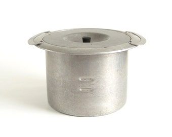 Mirro Deep Well Cooker Aluminum Pot Insert for Antique Stove Range 6 Quart Pan with Inserts