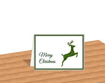 Digital Christmas Cards Digital Card Download Merry Christmas Cards With Envelope Holiday Cards Christmas Reindeer Blank from Inside