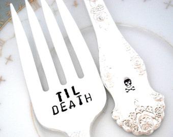 Til Death Do Us Part Forks  - Wedding Forks - Holiday 1951