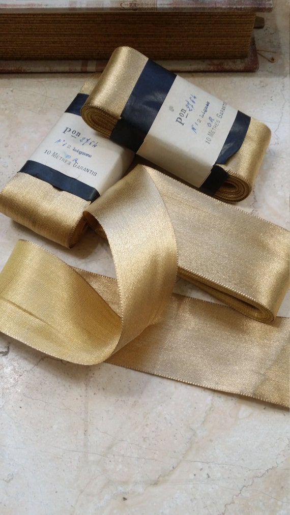 2 Quot Vintage Metal French Gold Ribbon Lame Ribbon