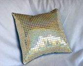 Gold Glitter Sequin Pillow Cover