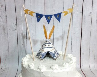 Teepee Cake Topper and Banner