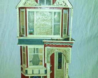 Victorian House San Francisco Painted Lady Fascade Decorative Shabby Chic White