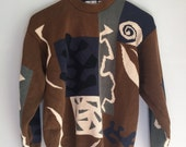 Abstract print sweater size small