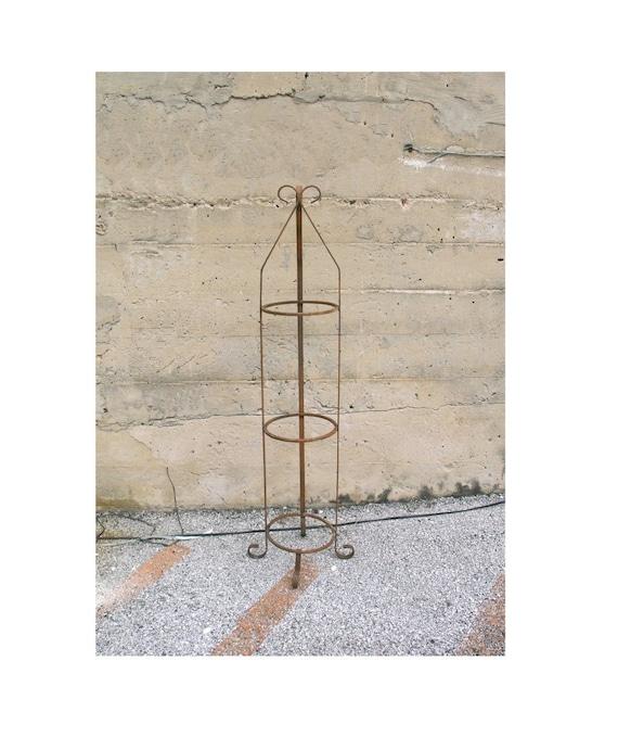 vintage metal plant stand indoor outdoor by industrialhabitat. Black Bedroom Furniture Sets. Home Design Ideas
