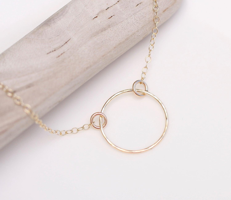 open circle necklace eternal circle necklace gold karma