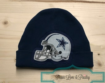 Dallas Cowboys Baby Hat Made from Dallas Cowboys Fabric, Baby Cowboys, Dallas Baby, Baby Shower Gift, New Baby Gift, NFL Baby Hat,Texas Baby