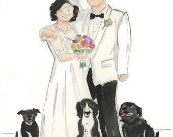 Custom Wedding Watercolor Large