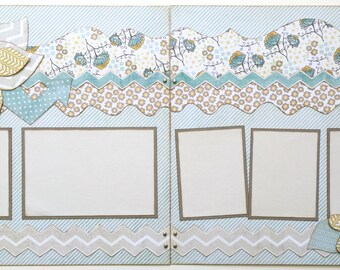 You Sparkle, You Shine Pre Made 2 Page 12x12 Scrapbook Layout