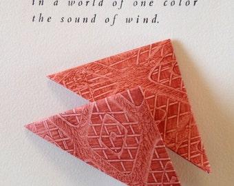Origami Page Corner Bookmarks-Sienna