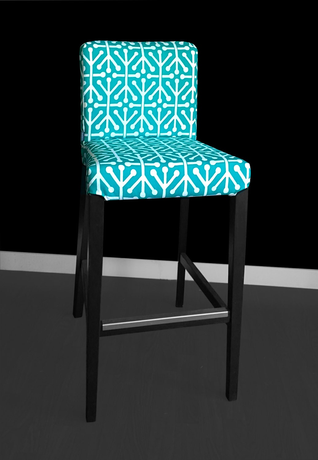 housse de chaise turquoise ikea henriksdal tabouret. Black Bedroom Furniture Sets. Home Design Ideas