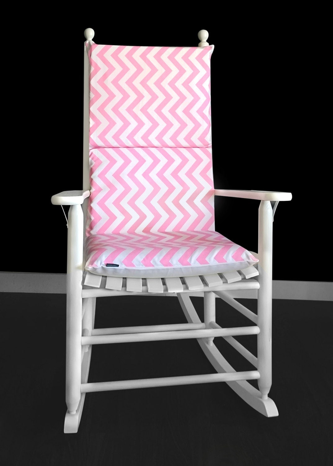 Candy Pink Chevron Rocking Chair Cushion