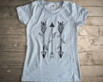Tribal arrows T-shirt-tee with arrows-boho shirt-women clothing-arrows top vest-women tank top-arrows shirt-Xmas gift-NATURA PICTA-NPTS038