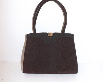 Vintage 1950s brown Corde grab handbag bag Excellent condition