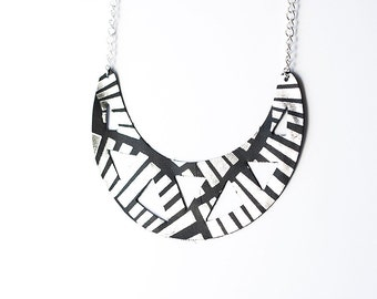 Leather Necklace / Statement / Monochrome