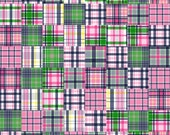 Madras Patterned Premium Vinyl Vibrant Vinyl™ - Camden Pink, Adhesive Vinyl + Heat Transfer Vinyl, Navy Plaid, Oracal, Vinyl Sheets
