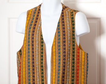Vintage 60s 70s Hippie Style Vest