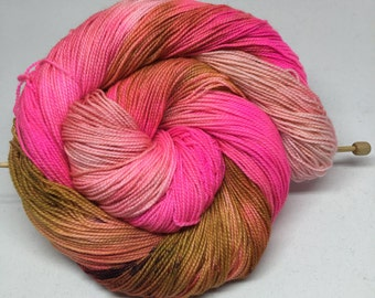 wanna be - Hand Dyed Yarn - Twisted Sock - Super wash 80/20 Merino Nylon - {wanna be} speckled indie dyed