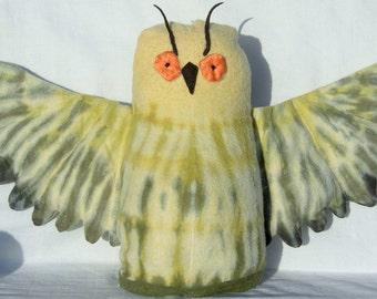 Organic Stuffed Baby Owl, Soft Toy Animal, GOTS Certified Organic Cotton & Alpaca Stuffing