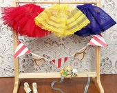 Primary Colors Slips: Red, Yellow and Blue Blythe Petticoat   Pullip Petticoat